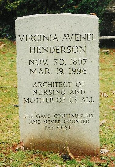 Photo of Virginia Henderson's grave by Edward Halloran