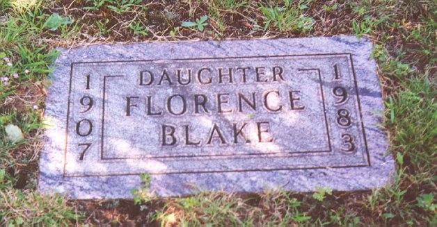 Photo of Blake family headstone by Signe S. Cooper
