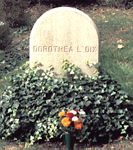 Photo of Dorothea Dix's grave by Jeanette Waits