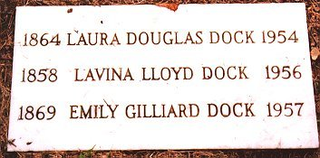Photo of Lavinia L. Dock's grave courtesy of Mary Ann Burnam