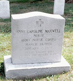 Photo of Anna C. Maxwell's grave by Linda K. Strodtman