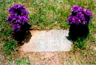 Photo of Martha Roger's grave in Woodlawn Cemetery in south Knoxville TN