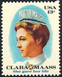 1976 US stamp honoring Clara L. Maass
