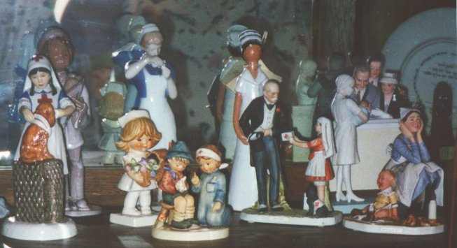 Part of a nurse doll collection