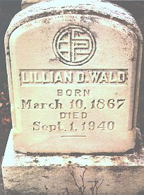 Photo of Lillian D. Wald's grave by Sharon L. Fickeissen